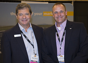 Saucier, left with Chris Willenborg in a 2016 photo. At the time, Willenborg was Chair of the NASAO Board of Directors and Aviation Director for the State of Massachusetts.