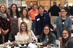 Senator Kay Floyd visited with students from Ada Public Schools, the Senator's home town. Photo credit to Paula Kedy, Ada Public Schools.