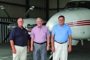From left to right are Nebraska pilots, David Morris, Ronnie Mitchell and David Moll