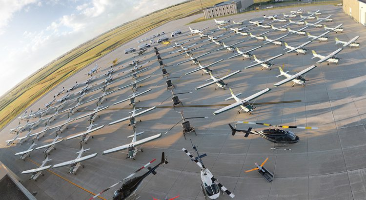 UND's fleet of more than 150 aircraft. (PRNewsfoto/Insitu)