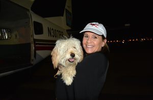Judy Zimet, DIMC Co-Founder, is pictured with Phoenix.