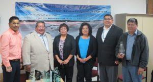 From Left to right: Andrew L. Othole, Director Planning & Development/Airport Manager, Governor Val R. Panteah, Sr., Lt. Governor Birdena Sanchez, Councilwoman Virginia Chavez, Councilman Carleton Bowekaty, and Councilman Arlen Quetawki, Sr. (Zuni Tribal Council).