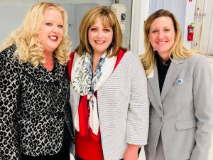 From left are Sandra Shelton, OAC, Alexa Higgins, Tulsa Int'l Airport, and Kristy Slater, Wiley Post Airport.