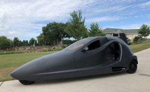 The Switchblade flying car has side-by-side seating for two, room for over 100 pounds of luggage (golf clubs, etc.), a wide cabin, and the power-to-weight ratio of a 2017 Corvette. In the past, flying car concepts have delivered mediocre performance in the air or on the ground. There is nothing 'mediocre' about this vehicle.
