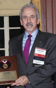 Vic Bird with Rowe Award.